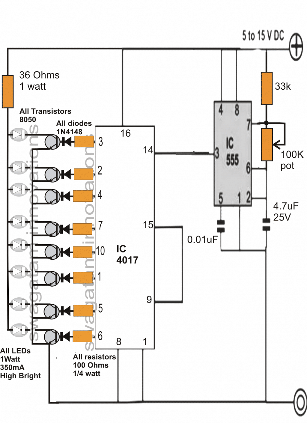 Make this DRL Day Time Running Light Circuit for Your Car – Led Drl Lights Wiring Schematic