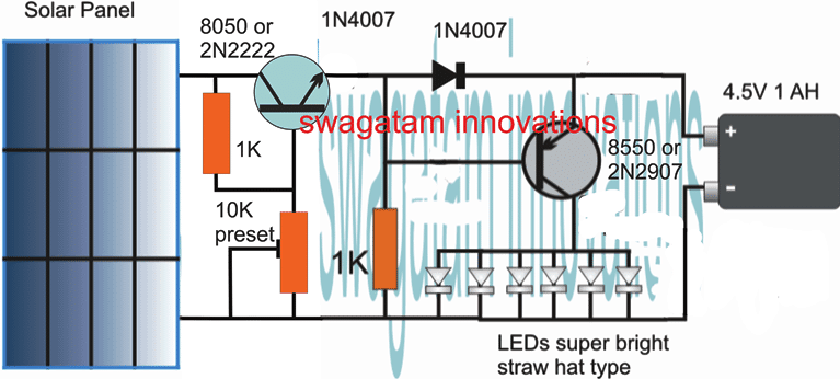 current controlled LED lamp circuit