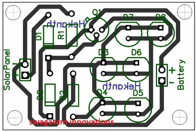 solar garden light PCB design