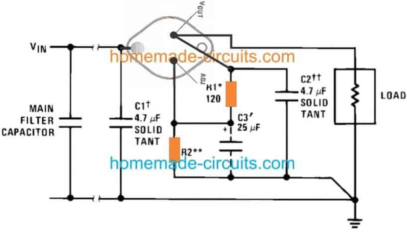 10 amp variable regulator using LM 196, LM396 IC