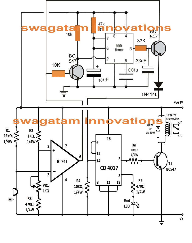 double clap clap activated switch circuit