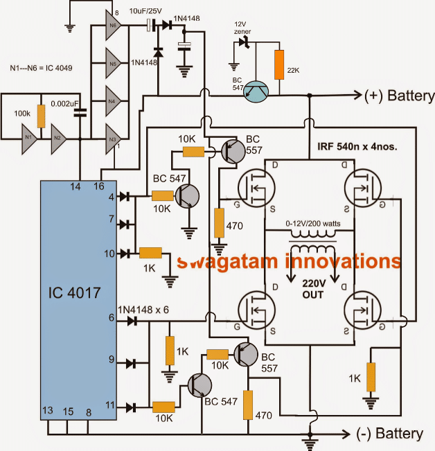Full Bridge Inverter Circuit on Dc Ac Inverter Circuit Diagram