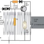 1 Watt LED Emergency Lamp Circuit Using Li-Ion Battery