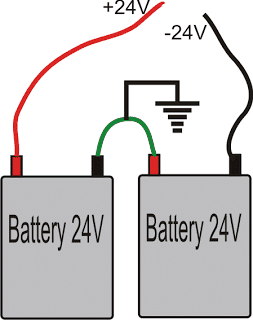 converting two 12V batteries into a 24V battery