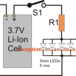 How to Connect 5mm LEDs to a 3.7V Li-Ion Cell