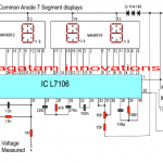 Make this Simple Digital Voltmeter Circuit Using IC L7107