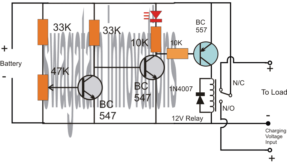 Low Battery Indicator Circuit Using Two Transistors Only