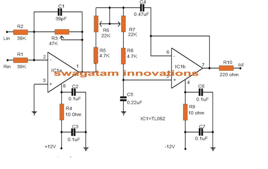 Low Pass Filter Circuit for Subwoofer