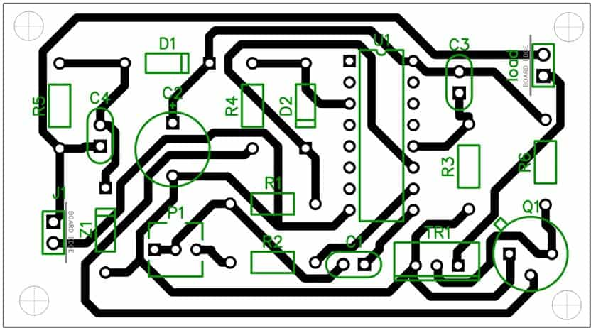 triac timer circuit PCB layout