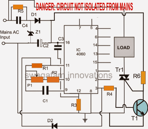 simple triac circuit 1 - Simple Triac Timer Circuit