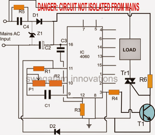 simple triac timer circuit homemade circuit projects