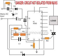 triac timer circuit 1 - Simple Triac Timer Circuit