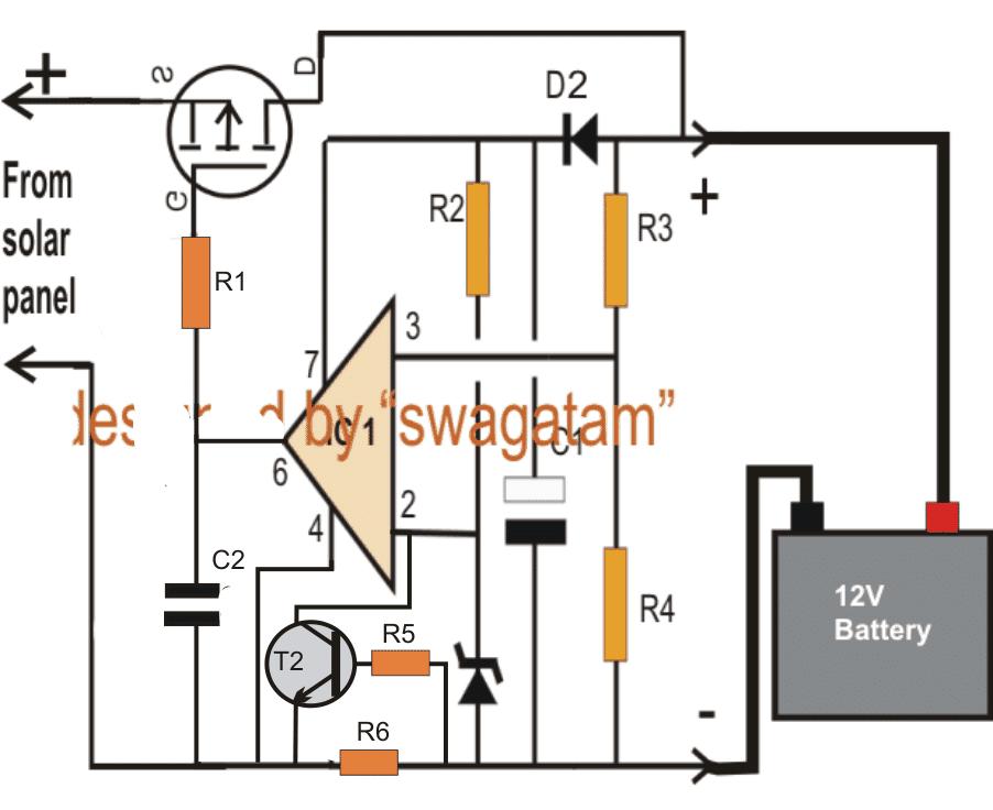 CURRENTCONTROLLEDZERODROPSOLARCHARGERCIRCUIT simple solar charger circuit diagram new wiring diagram 2018