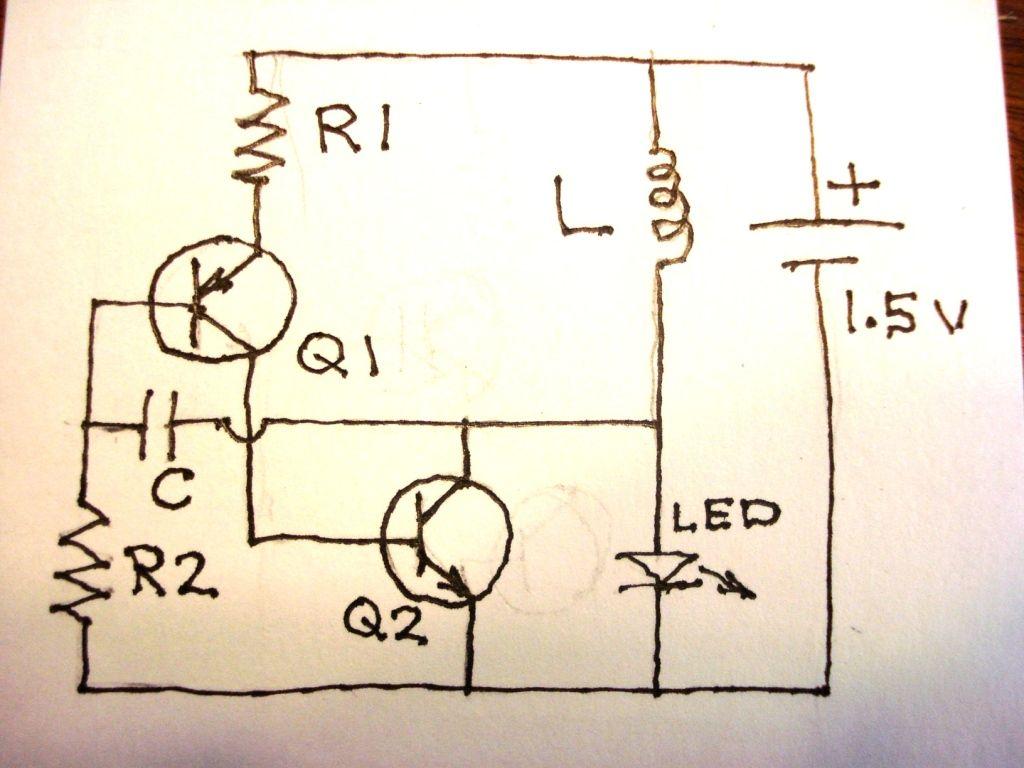 1.5V to 12V DC Converter Circuit for LEDs