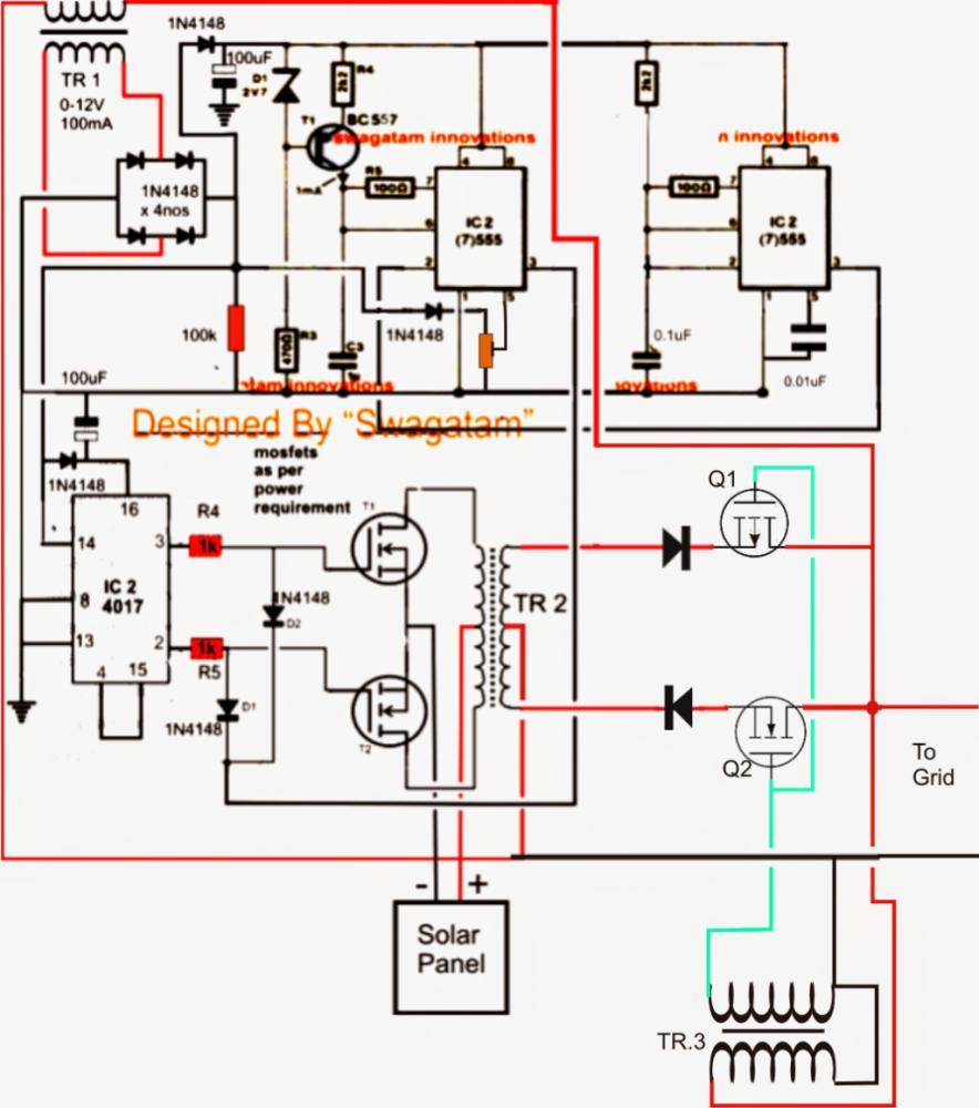 100 Watt Inverter Circuit Diagram