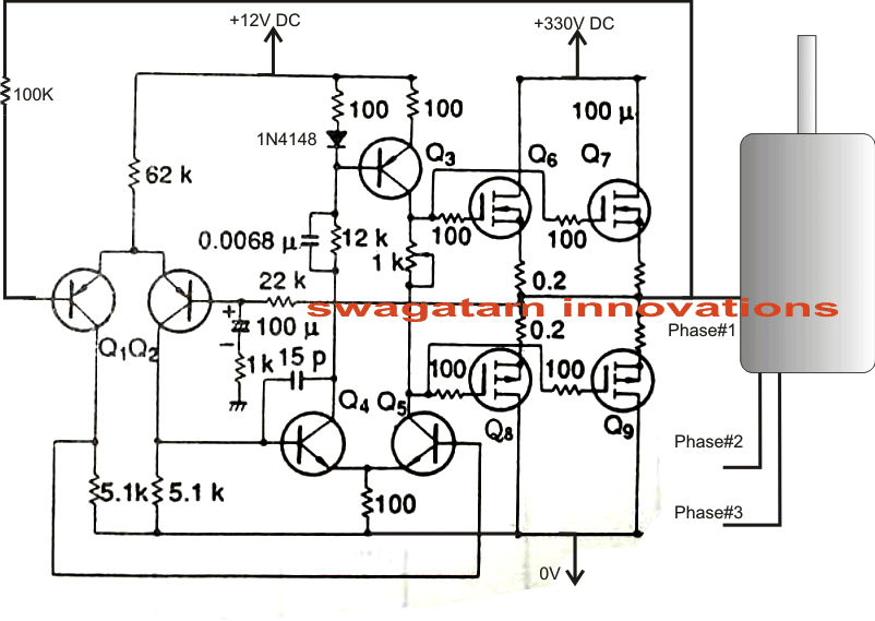 singlephasetothreephaseconvertercircuit single phase ac to three phase ac converter circuit 3 phase converter diagram at n-0.co