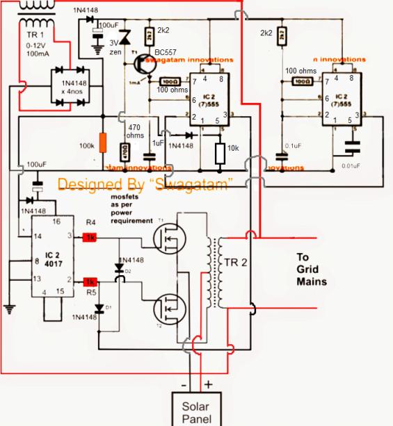 Homemade 100VA to 1000VA Grid-tie Inverter Circuit | Homemade