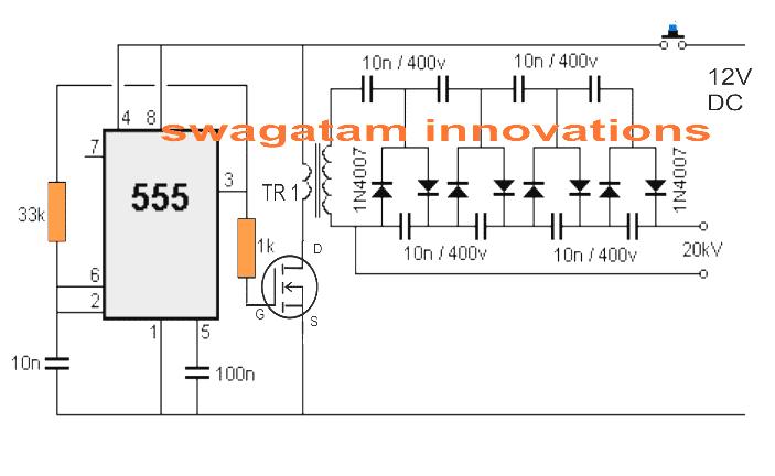 stunguncircuit diy taser gun circuit flashlight stun gun wiring diagram at alyssarenee.co