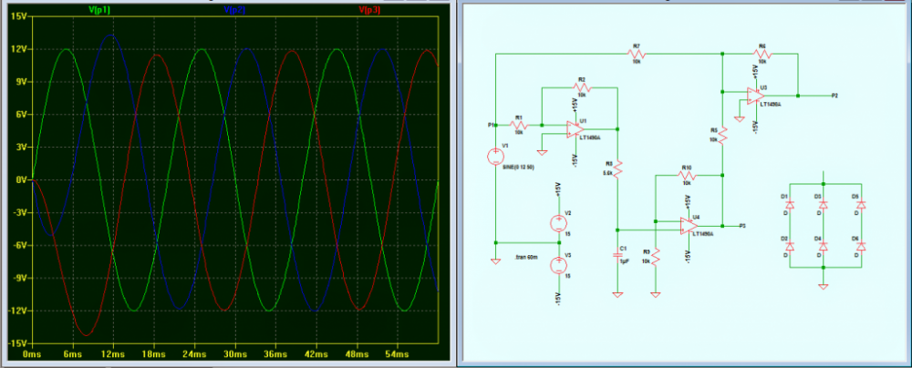 3-Phase Signal Generator Circuit using Opamp