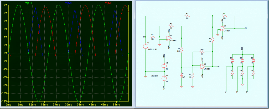 3 phase generator with waveform
