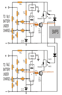 Automatic Double Battery Charger from a Single Power Supply