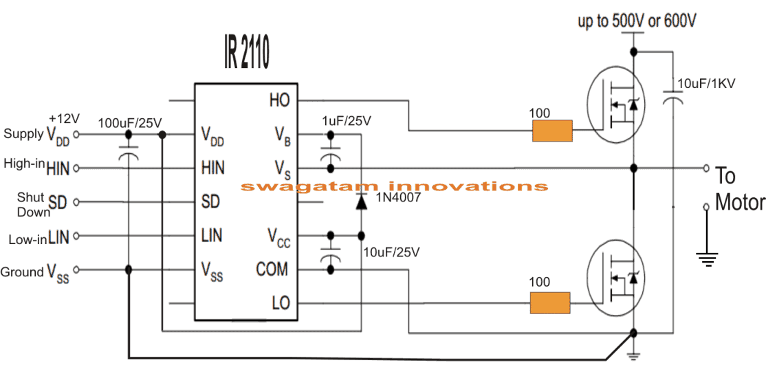 Single Phase Variable Frequency Drive VFD Circuit | Homemade ... on