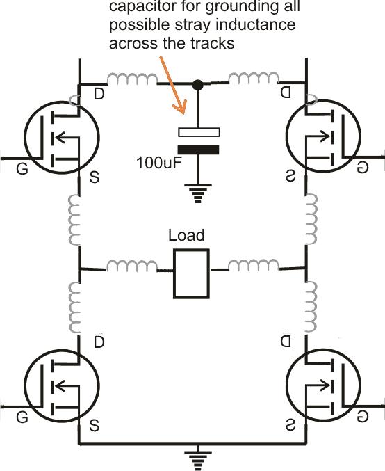 how to protect mosfet in H bridge circuits or full bridge circuit