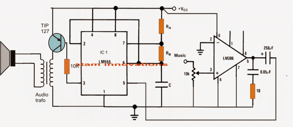class d amplifier circuit using ic 555