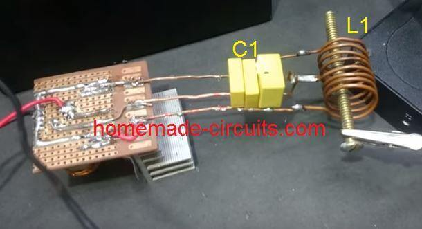 connecting induction heater to power supply