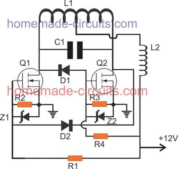 second design of a DIY induction heater with minimum components