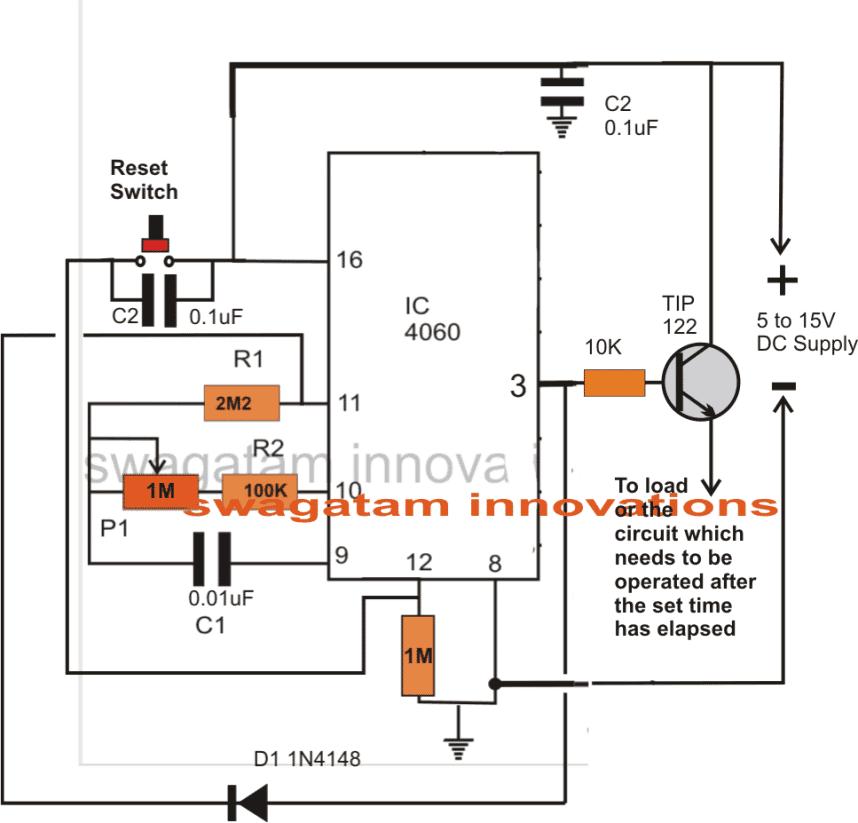 Simple Adjustable Industrial Timer Circuit