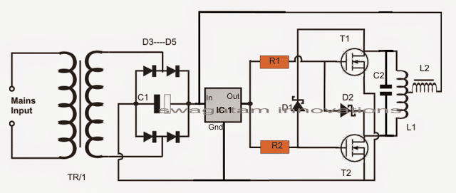 Royerinductionheatercircuit on Induction Cooker Circuit Diagram