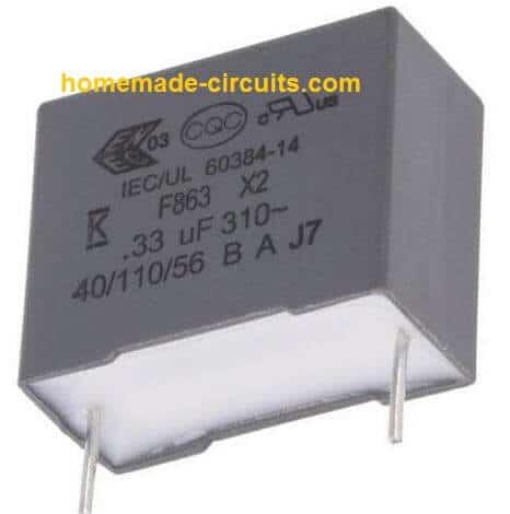 0.33uF/400V capacitor MKT metallized polyester