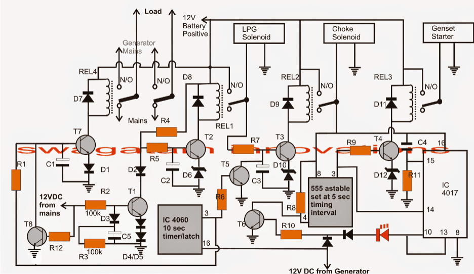 2 Simple Automatic Transfer Switch Ats, Lpg Changeover Switch Wiring Diagram