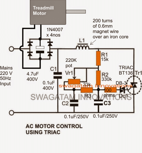 Treadmill Motor Sd Controller Circuit | Homemade Circuit ... on