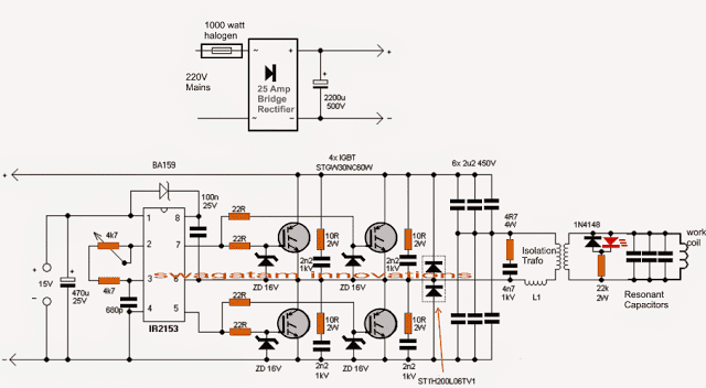 induction heater circuit full bridge 1 - Induction Heater Circuit Using IGBT