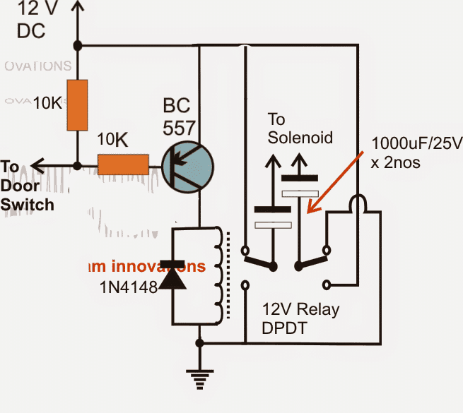Car Door Close Optimizer Relay Circuit