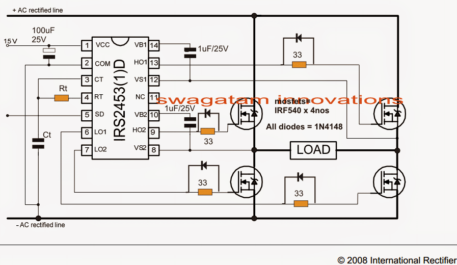 Simplest Full Bridge Inverter Circuit | Homemade Circuit ... on