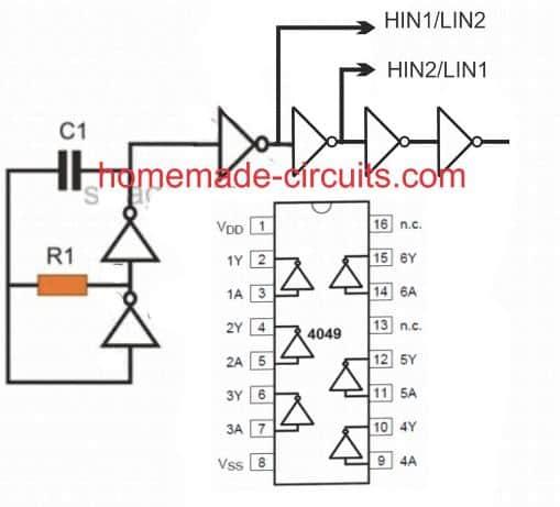 IR2110 input feed oscillator circuit