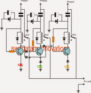Single Phase Voltage from Three Phase Voltage Source