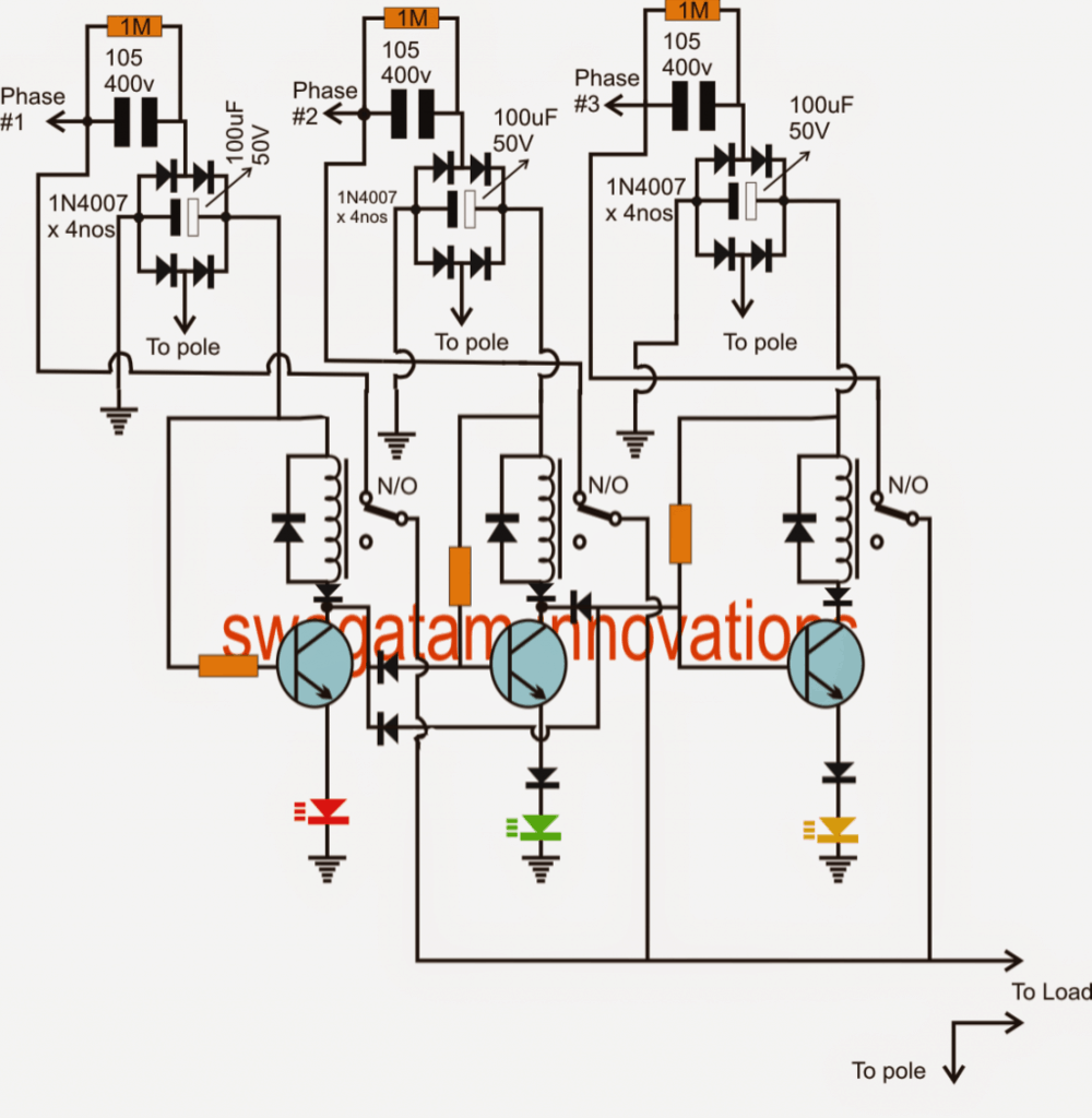 Lovely single phase preventer circuit diagram photos jzgreentown new single phase preventer pcb diagram circuit part list swarovskicordoba Image collections