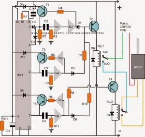 washing machine agitator timer circuit 300x283 washing machine motor agitator timer circuit homemade circuit projects