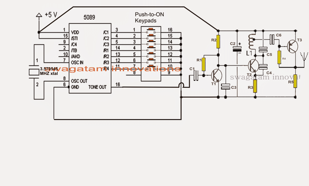 DTMF based FM Remote Control Circuit