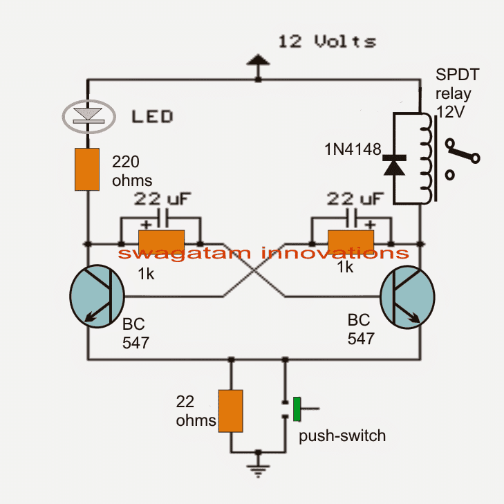 Light Activated Relay With 555 Ic as well TimingLight further 4 Wires Electronic Contactor 13 moreover Transistor Bistable Flip Flop Circuits furthermore Index php. on off delay timer circuit diagram