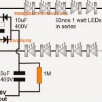 Simplest 100 Watt LED Bulb Circuit
