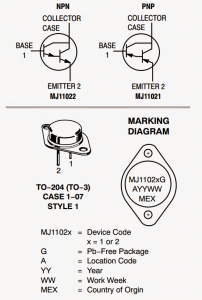 High Voltage Transistor MJ11021(PNP) MJ11022 (NPN) Datasheet – Complimentary Pair