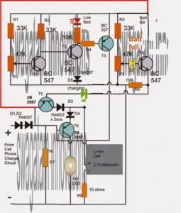 Li-ion Emergency Light Circuit
