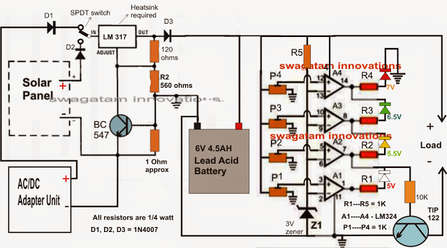 V Solar Charger Circuit on Solar Panel Wiring Diagram