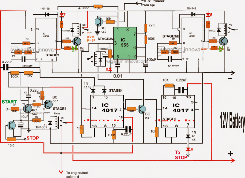 Programmable Automatic Starter Circuit for Diesel Water Pump