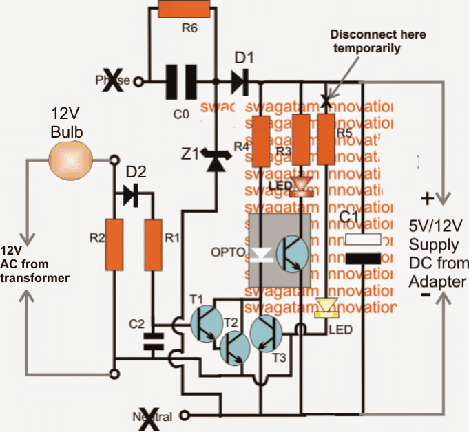 Earth Leakage Fault Indicator Circuit